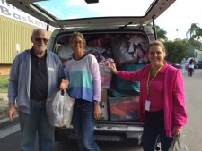 Dandelion Support Network Van full of donations at Sutherland My Kids Market